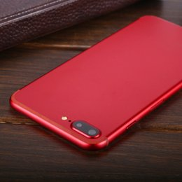 Latest Red Color Goophone I7 Plus MTK6580 Quad Core ROM 12GB RAM 1GB WCDMA Android 6.0 Smartphone Show Fake 4g 128GB Unlocked Cellphone