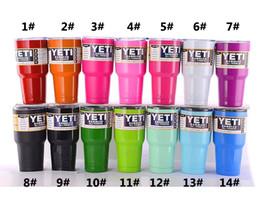 Eaux fraîches à vendre-Nouveau Yeti 30 oz 304 Gobelet multi-couleurs en acier inoxydable Travel Mug Bouteille d'eau Rambler Cups 11 Cooler Car Mugs Beer Yeti Cup