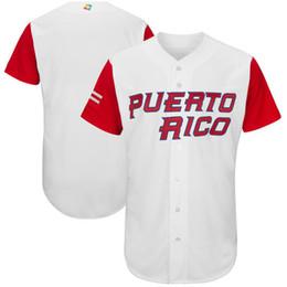 Puerto Rico Baseball Majestic 2017 World Cup Baseball Classic Team Jersey Men Baseball Jersey Puerto Rico Mexico Italy All Teams Wholesale