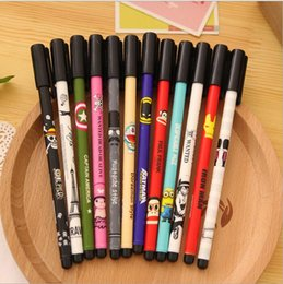 Wholesale New Cute Cartoon Kawaii Diamond Tip Anime Gel pens for Gifts School Matrails Korean Stationery Office School Supplies