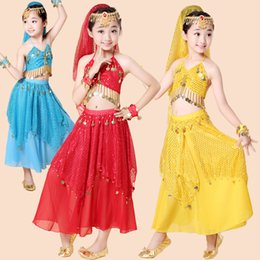 Piece Sequined Girls Kids Belly Dance Costume Bollywood Indian dancing Dress Dancing Clothing Ballroom Performance dancing Outfits