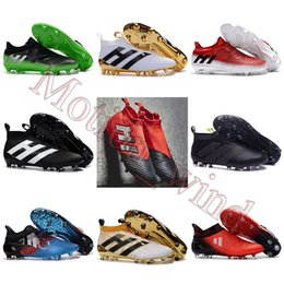 Wholesale Original Mens Football Boots ACE PureControl FG AG Pure Chaos Control Soccer Shoes men X PureChaos NSG Soccer Cleats MessI PureAgility