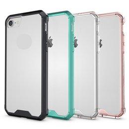 For Apple iPhone 6 7 7plus Armor Protective Phone Case Hybrid TPU Frame Clear Crystal Cover For iPhone 6 6S Plus 5.5