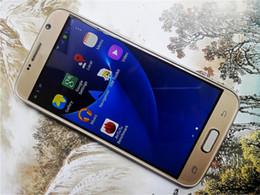 Teléfonos curvados de la pantalla de la pantalla S7 del patio móvil del patio Teléfonos Móviles MTK6580 3G 5.5inch 6.0 de la galaxia 4G LTE Octa núcleo 4GB + 64gb Goofón S7 pk i7 DHL libre desde teléfono celular 3g wcdma proveedores