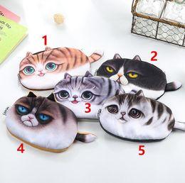 New Girl 3D Coin Purse Wallet Bag Ladies Face Zipper Mini Cat Animal Coin Purse Children's Purse Coins Pouch Kawaii Bag