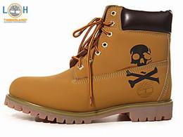 2017Men's shoes Brand New Men Premium Boots Timber Waterproof outdoor Grey Nubuck brown boots size 40-45