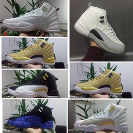 New Barons 12s Wings Mens basketball shoes Sports trainer 12 Sneakers Outdoors WOMEN Athletics Shoes 12 White ovo grey