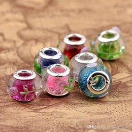 2016 Pink New Promotion Lampwork Color Delivery Circular Dichroic Beads Diy Jewelry Products Accessories Alloy Electroplating Beaded Wholesa