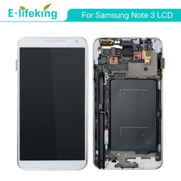 Wholesale LCD Display For Samsung Galaxy Note 3 N9000 N9005 N900A N900T Touch Screen Digitizer Replacement with fast DHL shipping