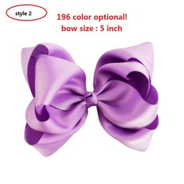 12pcs 4style available 5'' Candy Colors Newly Design Handmade Hair Bow With Boutique Alligator Clips Hair Accessories For Sweet Girls