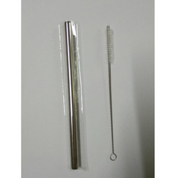 Wholesale Yeti Tumbler s Pipes Metal Straight Straws for oz Beer Mug Suckers Stainless Steel Drinking Pipes pc Per OPP Bag
