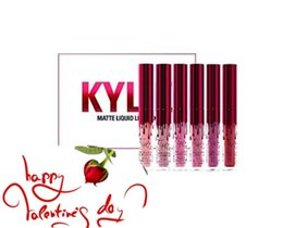 Wholesale 6 color Kylie Be Mine Valentine s Day Collection Mini Kit Matte Liquid Lipsticks Kylie Cosmetics Valentine s Day Red Mini Mattes Liquid Lip