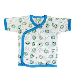 Wholesale piece New infant Baby half back baby tops infant underwear singleton coat pure cotton shirt Good Quality free shopping