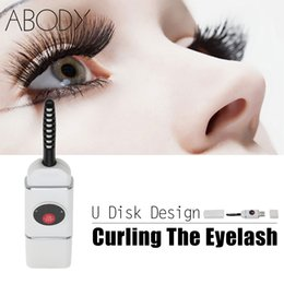 Wholesale Electric Heated Eyelash Curler U Disk USB Connector Charge Mini Portable Size Beauty Eye Lash Curling Makeup Tools Rechargeable