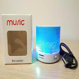 Newest SD-09 Mini Wireless Bluetooth Speakers LED Lights Speaker Subwoofer Stereo Portable speaker DHL Free Shipping