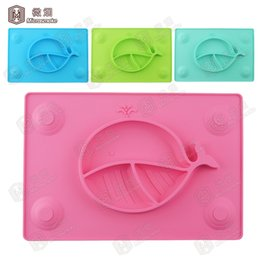 Wholesale BPA free silicone baby bowl non toxic baby tray placemat for kids shipping free by DHL j01