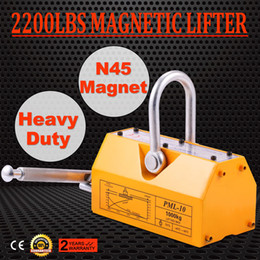 Wholesale 1000 KG Steel Magnetic Lifter Heavy Duty Crane Hoist Lifting Magnet lb