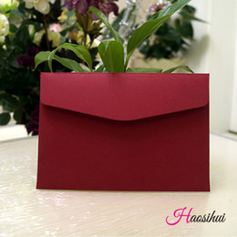Wholesale 13 X19 cm Solid Color Business Envelope Wedding Party Event Invitation Card Birthday Business Party Invitations Envelope