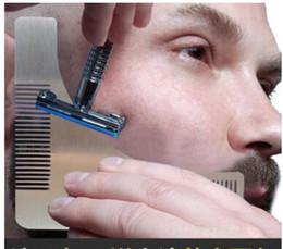 2017 recortar las herramientas de corte Barba Bro que forma la herramienta Plantilla del ajuste de la barba del hombre del sexo Plantilla del ajuste del moldeado del corte del pelo Barba del acero inoxidable que modela las herramientas presupuesto recortar las herramientas de corte