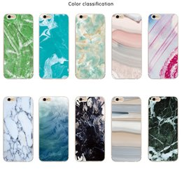 Wholesale Artificial Marble Printed Pattern Back Cover TPU Soft Phone Cases Marble Rock Stone Mobile Phone Cases for Iphone6 plus Iphone7 plus
