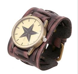 Wholesale 2pcs Punk style Mens Watches Top Brand Luxury Antique Unique Bracelet Wristwatches Wooden Quartz Watches big Leather Straps