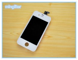 New White black Front Touch Digitizer LCD Display Screen Replacement for iPhone 4S 4G GSM Quick delivery