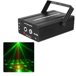 Wholesale Mini Stage Laser Lights Red Green Patterns Ballroom Theatre Projector DJ Disco Party Lighting Equipmentwith Remote controller