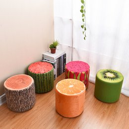 Wholesale Washable cotton wood chair shoes stool chair stool fruit bedroom furniture