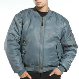 Wholesale FASHION ALPHA INDUSTRIES MA1 MA FLYING JACKET MA USAF FLIGHT JACKET GREEN BLACK GREY S XL