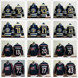 2017 Columbus Blue Jackets All Jerseys Ice Hockey 43 Scott Hartnell 13 Cam Atkinson 71 Nick Foligno 20 Brandon Saad 72 Sergei Embroidery