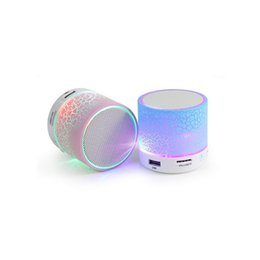 Wholesale A9 Crack Pattern Mini Portable Wireless Bluetooth Speaker Support Flash LED Night Light Hands Free TF card AUX Input
