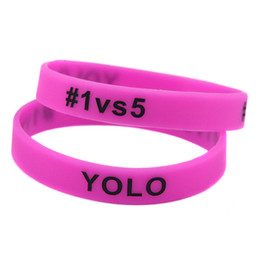 100PCS Lot League Of Legend YOLO #1vs5 Silicone Bracelet Wristband Perfect To Use In Any Benefits Gift For Gamers