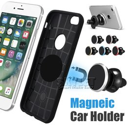 Wholesale For S8 Universal Air Vent Magnetic Car Mount Holder With Fast Swift Snap Technology For Mini Tablet Rotation Car Holder With Package