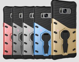 Wholesale Sniper Armour Hybrid Case pour Galaxy S8 Plus J5 A5 Moto G5 Plus Plastique dur Soft TPU ShockProof Defender Kickstand Cover Rugged Beetle