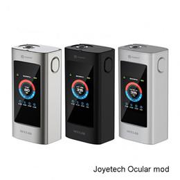 Descuento venta al por mayor joyetech Venta al por mayor Joyetech OCULAR C pantalla táctil 150W TC Caja MOD 150W Powered by dos reemplazables 18650 baterías con 1.68inch pantalla táctil