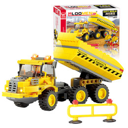 Wholesale J516 Engineering Vehicles Truck Blocks kits set DIY Jigsaw Construction Bricks Early Educational Toys Brinquedos