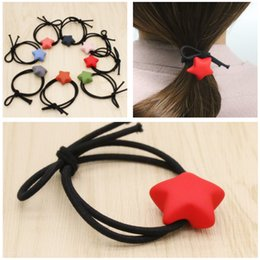Hair Jewelry New 2017 Eight Colors Star Hair Rubber Bands Elastic Hair Jewelry Rope For Women