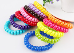 100pcs assorted color Large size Cutie Plastic rubber ponytail Holders hair accessories Elastic hair ties transparent or solid color