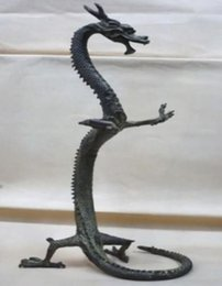 """exquisite bronze Chinese dragon statue Figures 17""""Height"""