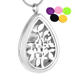 IJP0003 Cheap Wholesale 50pcs lot Essential Oil Diffuser Stainless steel Perfume Locket Pendant Hollow Tree of Life Pendant