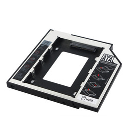 Wholesale Universal nd mm Ssd Hd cd dvd to SATA Hard Disk Drive HDD Caddy Adapter Bay For Cd Dvd Rom