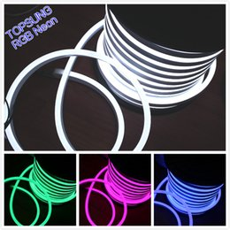 50M 110V SMD5050 14*26mm LED RGB Neon Flex Full Color Changing Flexible Neon Rope 80led M Waterproof Outdoor Lighting Decoration
