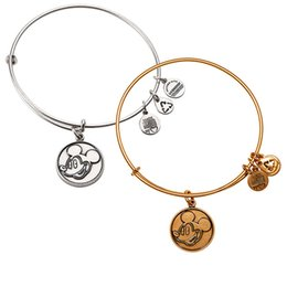 Wholesale Mickey Mouse Bangle by Alex and Ani Antique gold and silver the popular size adjust Pure copper plating bangle