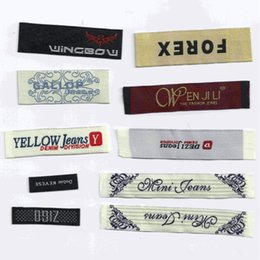 Wholesale Diy print satin custom garment labels tags woven clothing labels customized logo size designs