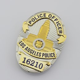 Wholesale Los Angeles Police Department LAPD metal Badge Replic police officer insignia badges and patches collection
