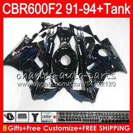 8 Gifts 23 Colors For HONDA CBR600F2 91 92 93 94 CBR600RR FS 1HM15 blue flames CBR 600F2 600 F2 CBR600 F2 1991 1992 1993 1994 black Fairing