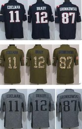 Wholesale New arrived american football jerseys Edelman Green Salute To Service Limited mens Jersey