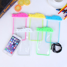 Wholesale Cute Mobile Pouches - 2017 New Arrival Universal Fashon Waterproof Case for iphone 5S 6S 7 Plus touch screen mobile phone waterproof bag Fluorescence Cute Cartoon