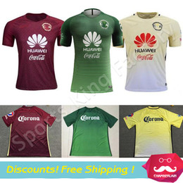 Wholesale Club America Aguilas camiseta de futbol Mexican League soccer jersey thai quality Green Mexico american club football shirts