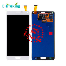 Good quality For Samsung Galaxy Note 4 LCD N9100 lcd N910F SM-N910 N910X Screen with Touch Digitizer Assembly White and black